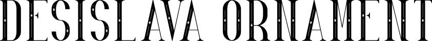 Preview image for Desislava Ornament Font