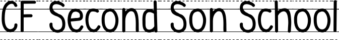 Preview image for CF Second Son School PERSONAL Regular Font