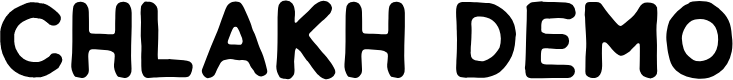 Preview image for Chlakh Demo Font