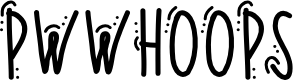 Preview image for PWWhoops Font