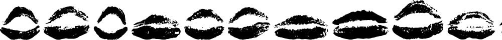 Preview image for 26 More Kisses Regular Font