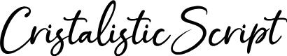 Preview image for CristalisticScript Font