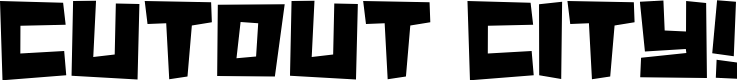 Preview image for Cutout City Font