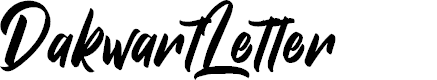 Preview image for DakwartLetter Font