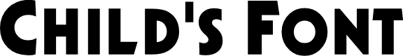 Preview image for Child's Font