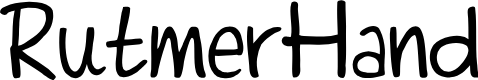 Preview image for RutmerHand Font