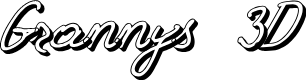 Preview image for Grannys 3D Font