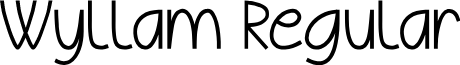Wyllam Regular font
