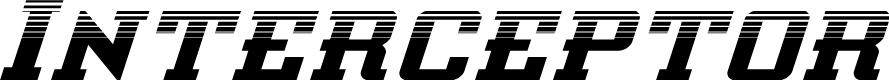 Preview image for Interceptor Halftone Italic
