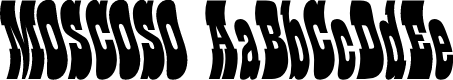 Preview image for Moscoso Font