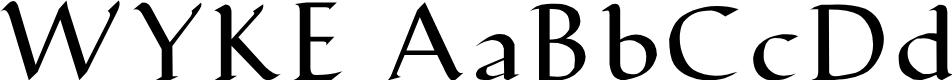 Preview image for WYKE RegularA Font