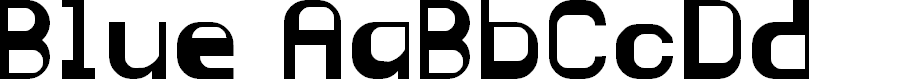 Preview image for Blue Regular Font