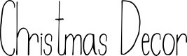 Preview image for Christmas Decor Font