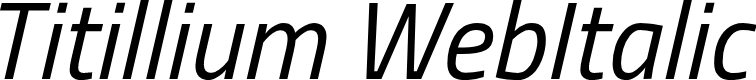 Preview image for Titillium WebItalic