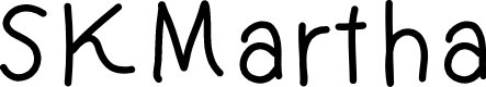 Preview image for SKMartha Font