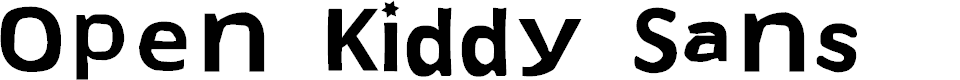 Preview image for Open Kiddy Sans Font