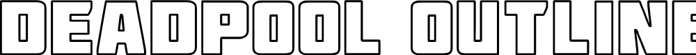 Preview image for Deadpool Outline Font