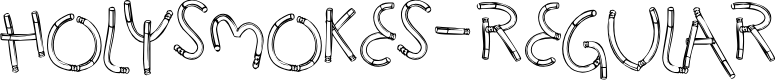 Preview image for HolySmokes-Regular Font