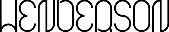 HENDERSON font