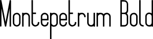 Preview image for Montepetrum Bold Font