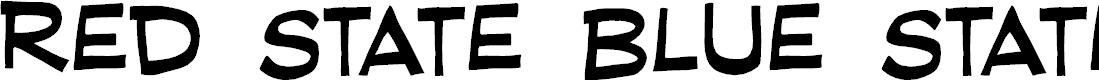 Preview image for RedStateBlueStateBB Font
