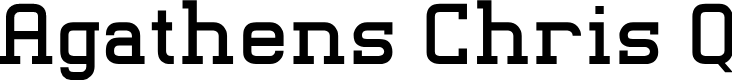 Preview image for Agathens Chris Q Font