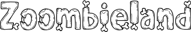 Zoombieland font