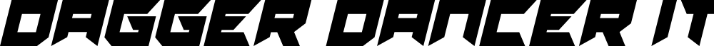 Dagger Dancer Italic