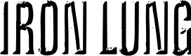 Preview image for Iron Lung Font