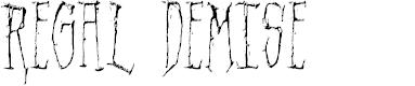 Preview image for Regal Demise Font
