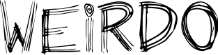 Preview image for Weirdo Font