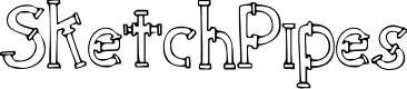 Preview image for SketchPipes Font