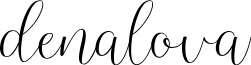 denalova font
