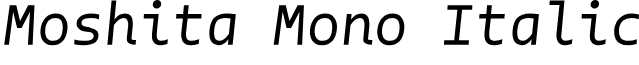 Moshita Mono Italic