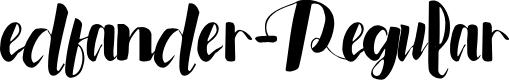 Preview image for edfander-Regular Font