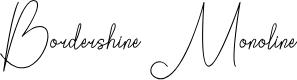 Preview image for Bordershine Monoline Font