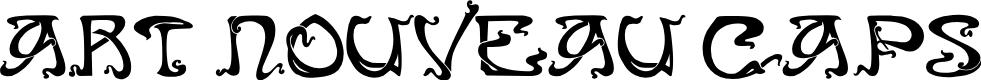 Preview image for Art Nouveau Caps Font
