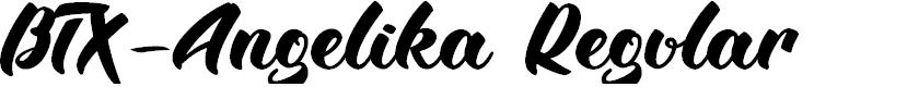 Preview image for BTX-Angelika Regular Font