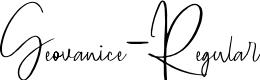 Preview image for Geovanice-Regular Font