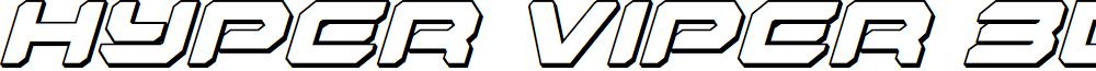 Hyper Viper 3D Italic