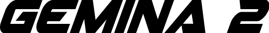 Gemina 2 Condensed Italic