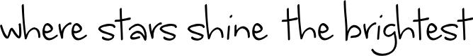 Preview image for where stars shine the brightest Font