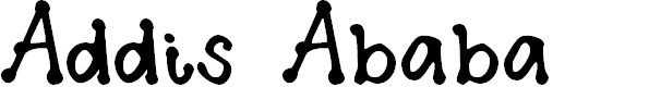 Preview image for Addis Ababa Font
