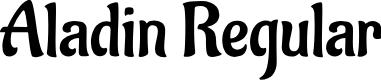 Preview image for Aladin Regular Font