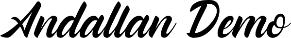Preview image for Andallan Demo Font