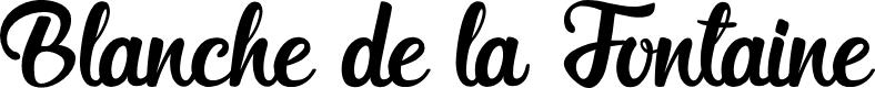 Preview image for Blanche de la Fontaine Font
