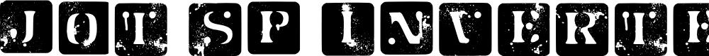 Preview image for Jot Sp Inverted Regular Font