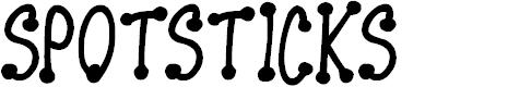 Preview image for Spotsticks Font