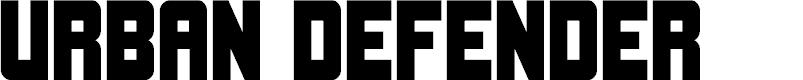 Preview image for Urban Defender Font