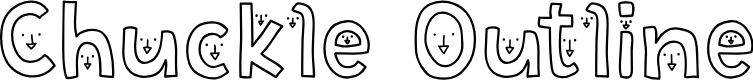 Preview image for Chuckle Outline Font